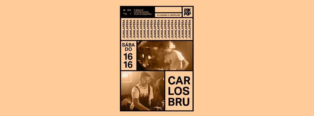 Copertina evento Carlos Bru + Juan Lapera