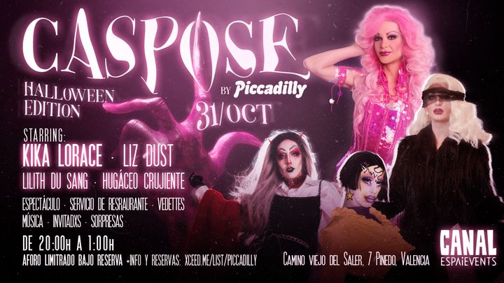 Cover for event: CASPOSE by Piccadilly en SALA CANAL -Especial Halloween