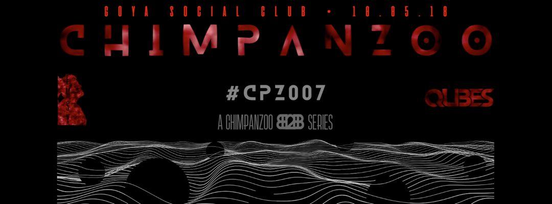 Cartel del evento Chimpanzoo pres. #CPZ007 B2B Series w/ EMSY vs. QUBES II