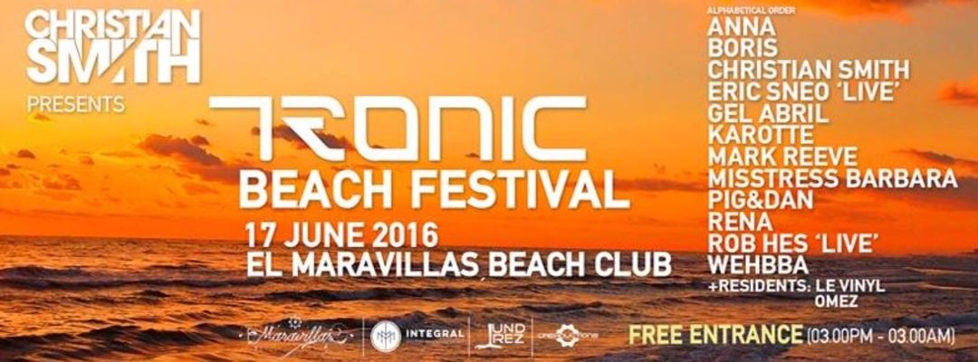 Christian Smith presented by Tronic Beach Festival | Off Week-Eventplakat