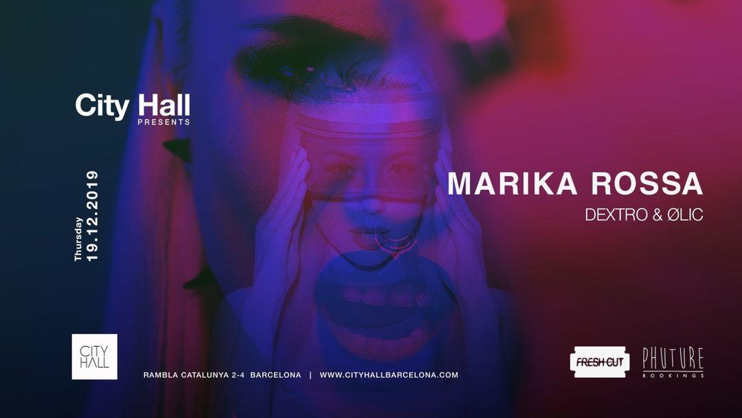 Cartel del evento City Hall presents Marika Rossa
