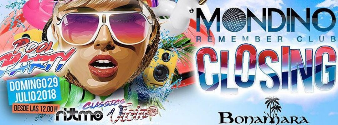 CLOSING MONDINO POOL PARTY-Eventplakat