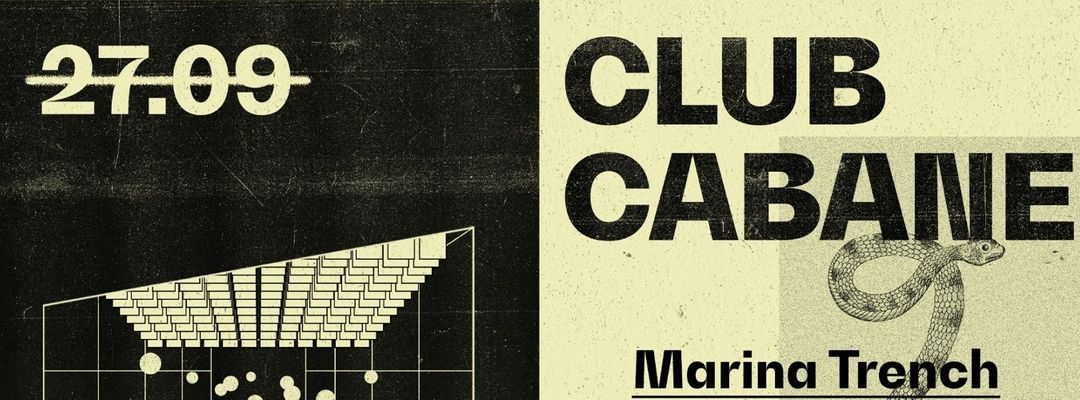 Cartell de l'esdeveniment Club Cabane | Marina Trench