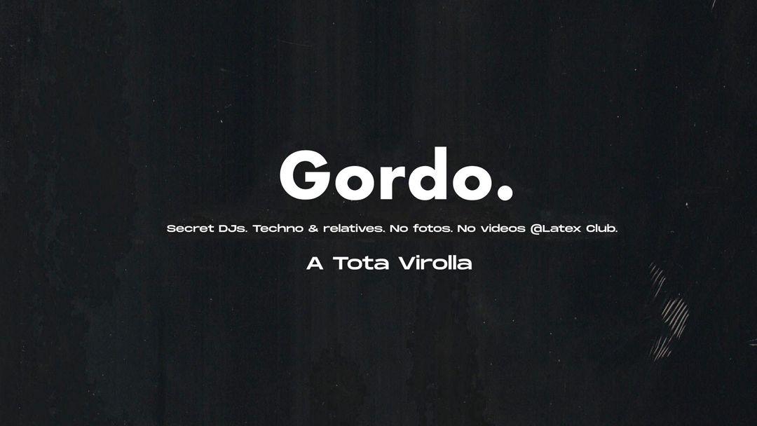 Cartel del evento Club Gordo en LÁTEX