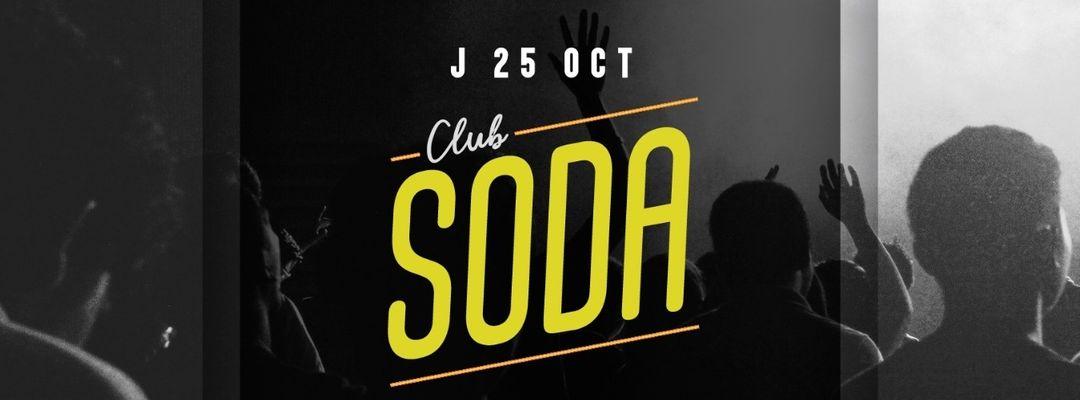 Cartel del evento Club Soda