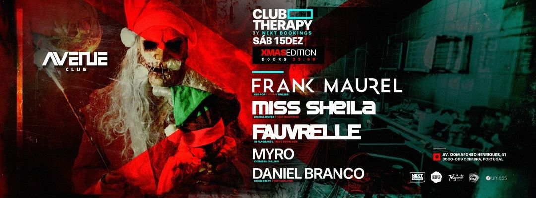 Club Therapy at Avenue Club-Eventplakat