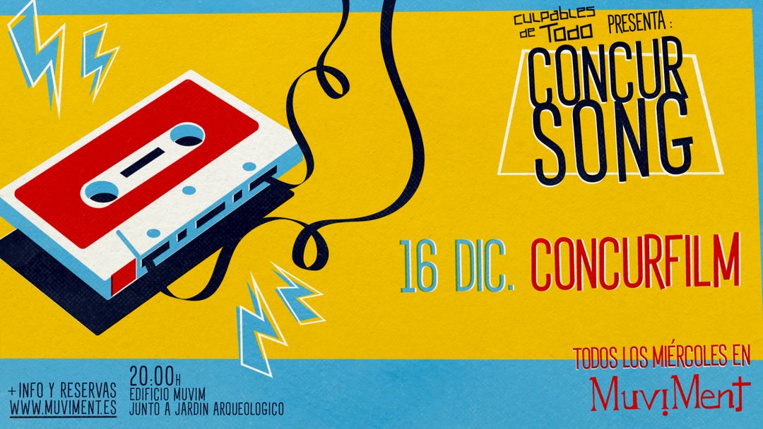 Cartel del evento ConcurFilm· Un quiz sobre cine al aire libre