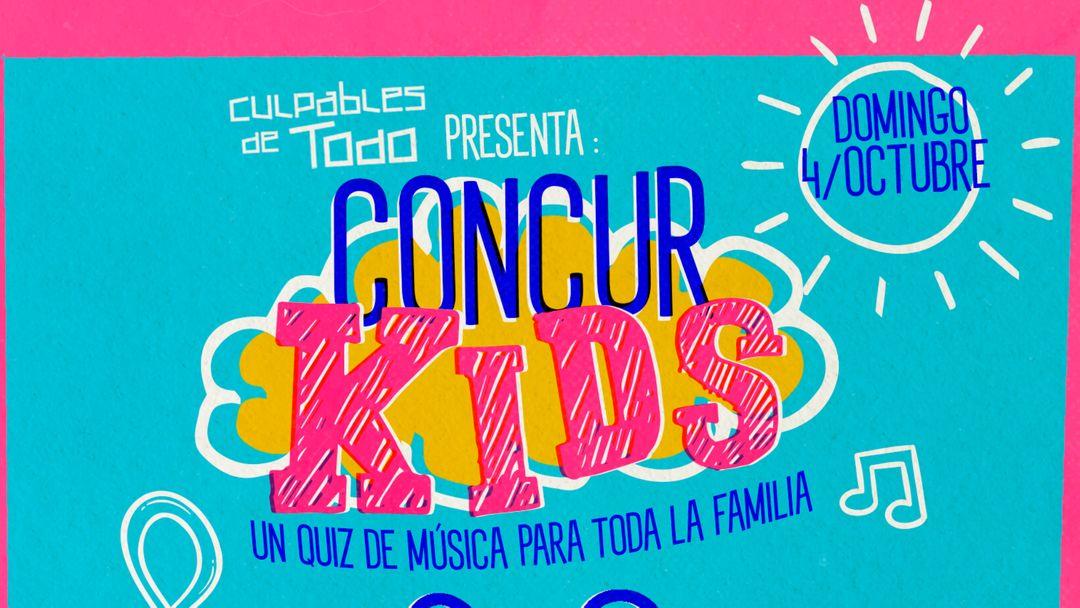 Cartel del evento ConcurKids · Un quiz para toda la familia sobre música, cine y tv, al aire libre