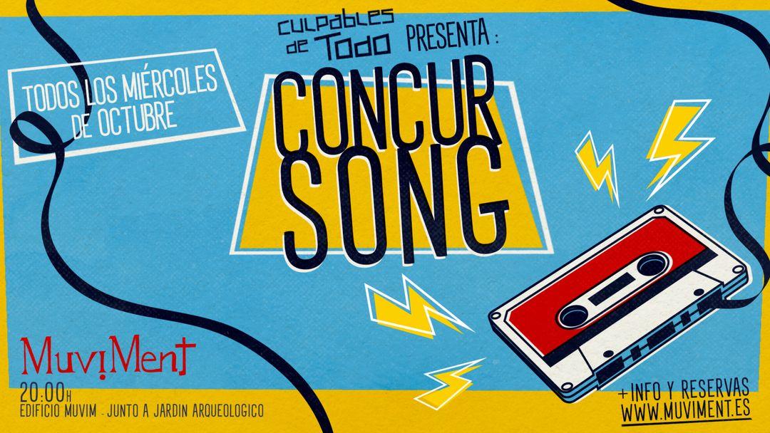 Concurseries · ConcurSong · Un quiz sobre música al aire libre-Eventplakat