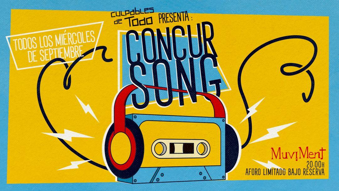 ConcurSong · Un quiz sobre música al aire libre-Eventplakat