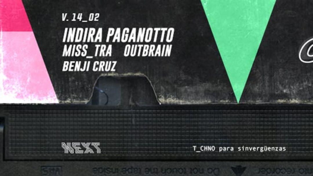 Cartel del evento Conguiónbajo | Indira Paganotto @ Next