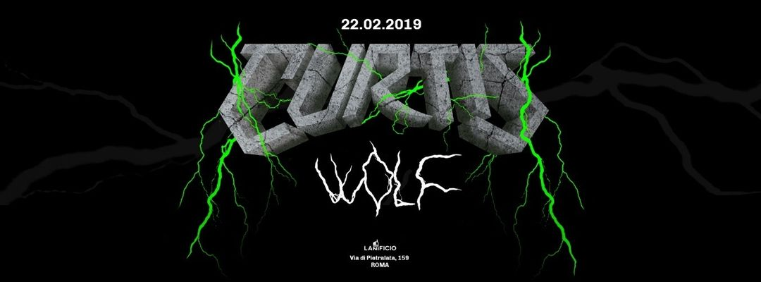 Curtis Wolf - The New Wave-Eventplakat