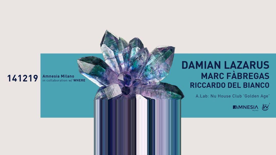 Capa do evento Damian Lazarus, Marc Fàbregas, Riccardo Del Bianco