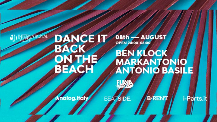 Cover for event: Dance It Back w/ Ben Klock, Markantonio, Antonio Basile