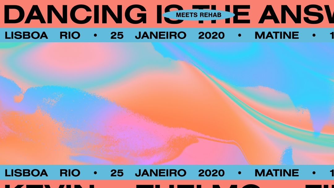 Cartel del evento Dancing is The Answer meets Rehab at Lisboa Rio