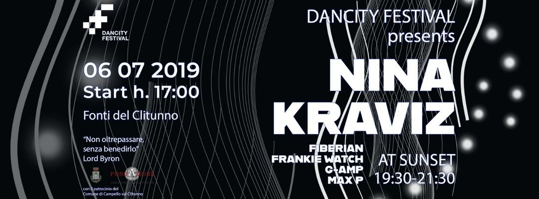 "Dancity presents Nina Kraviz ""at Sunset""-Eventplakat"