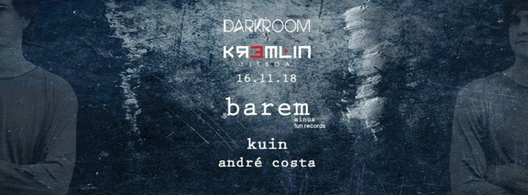 Cartel del evento Darkroom w/ Barem