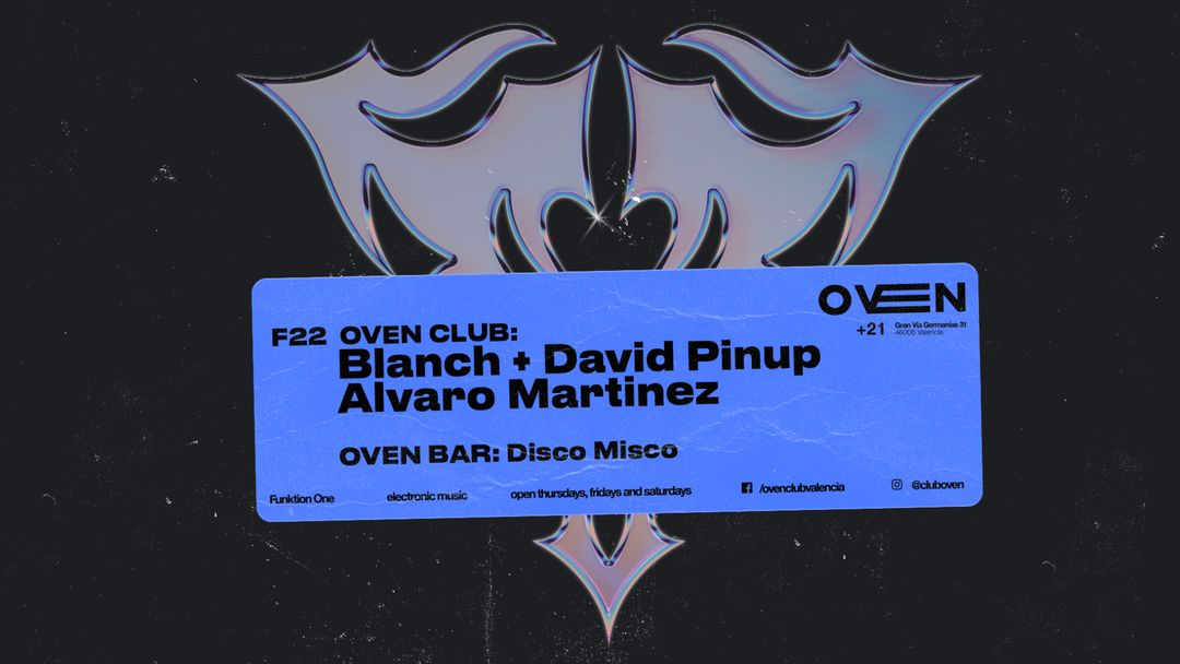 DAVID PINUP + BLANCH + ALVARO MARTINEZ event cover