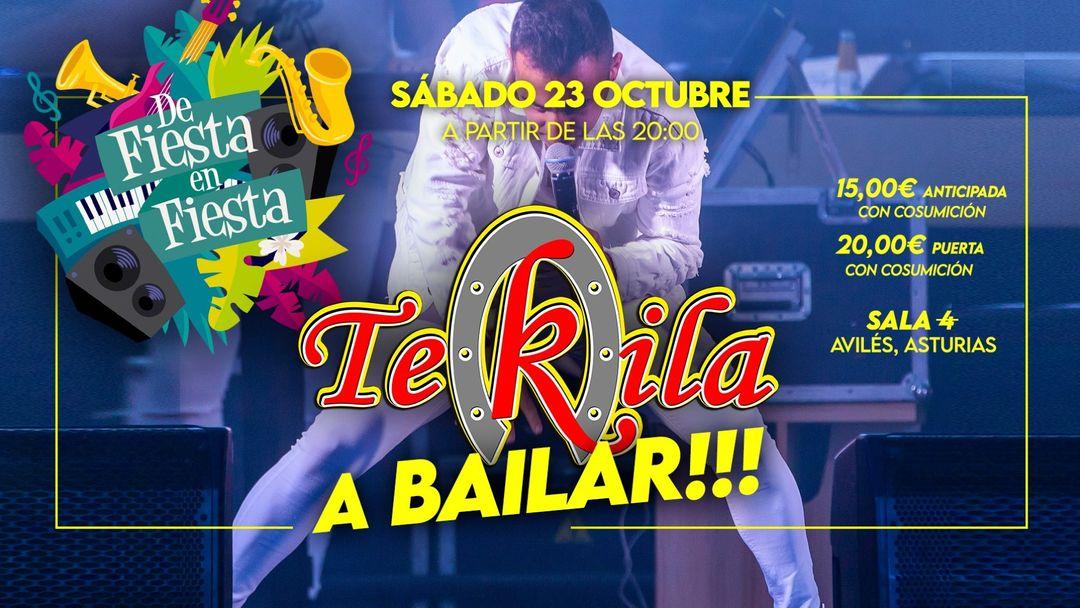 Cartel del evento DE FIESTA EN FIESTA  presenta: TEKILA A BAILAR!!! en directo / SAB 23 OCT