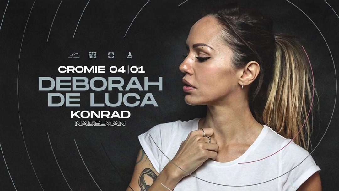 Cartel del evento Deborah De Luca, Konrad, Nadelman