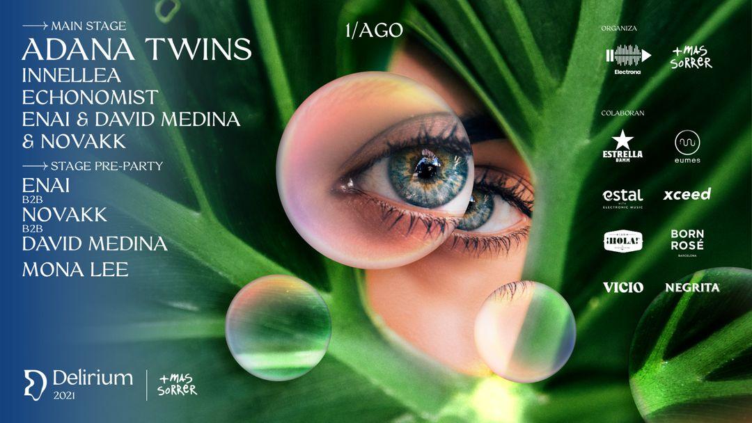 Cartel del evento Delirium Festival presenta Adana Twins