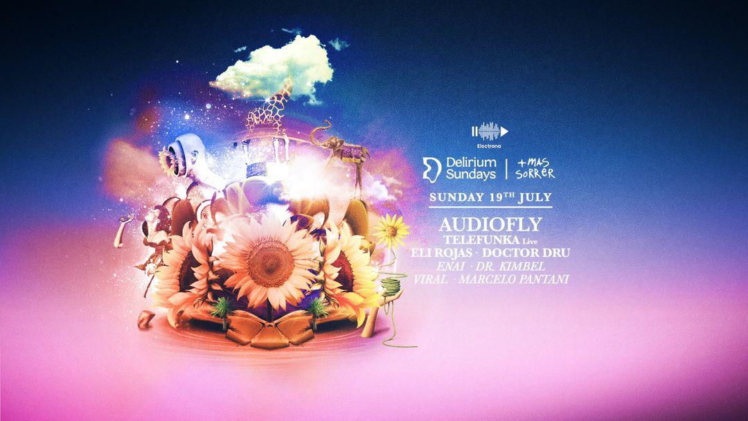 Cartel del evento DELIRIUM SUNDAYS presenta AUDIOFLY