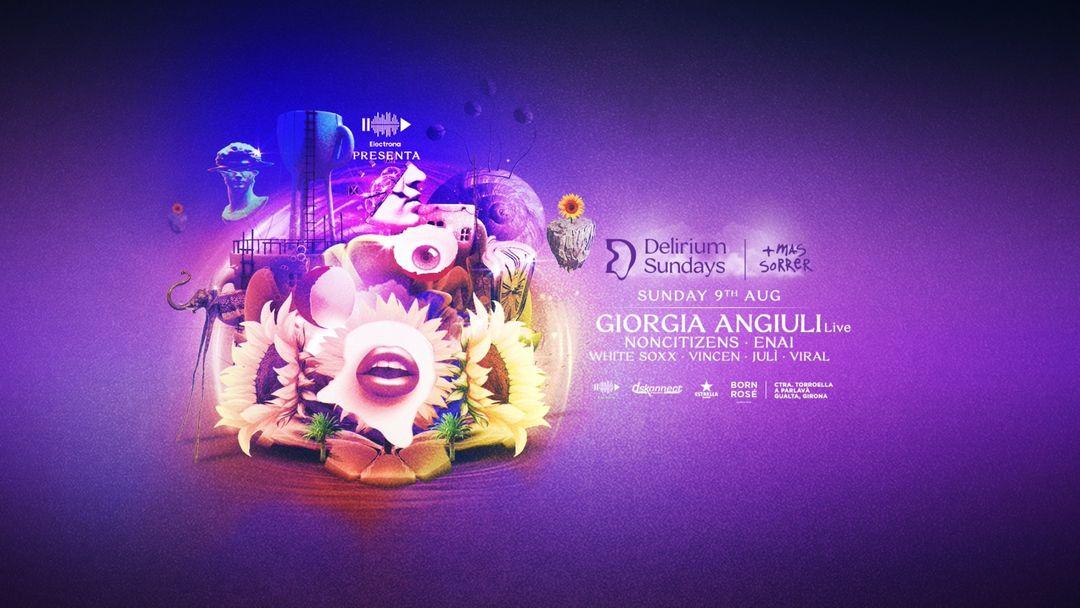 Couverture de l'événement (CANCELADO) DELIRIUM SUNDAYS presenta GIORGIA ANGIULI