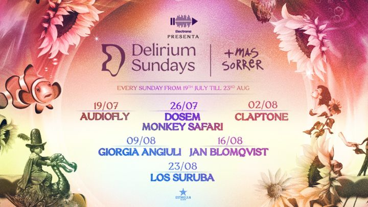 Cover for event: (CANCELADO) DELIRIUM SUNDAYS presenta LOS SURUBA