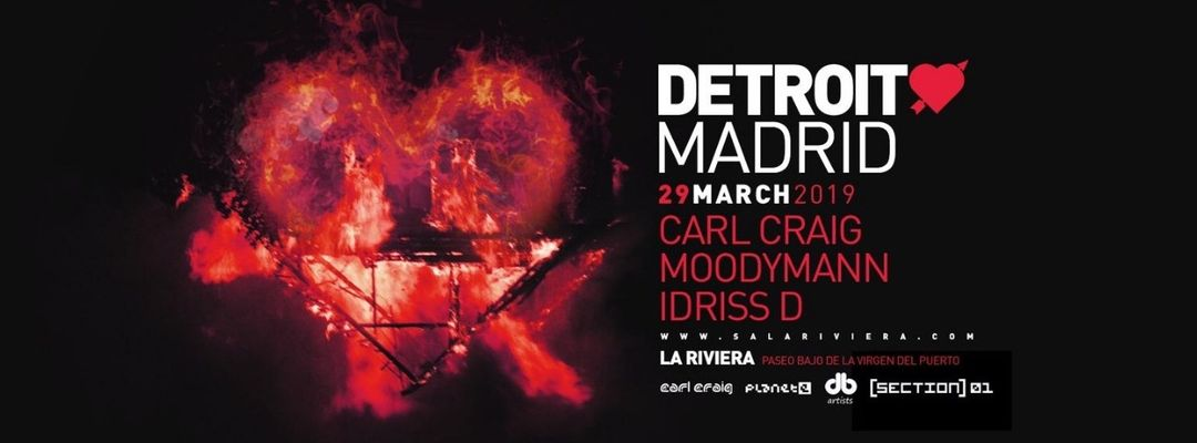 Detroit Love Madrid event cover