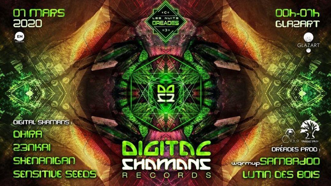 Cartel del evento Digital Shamans Records Party