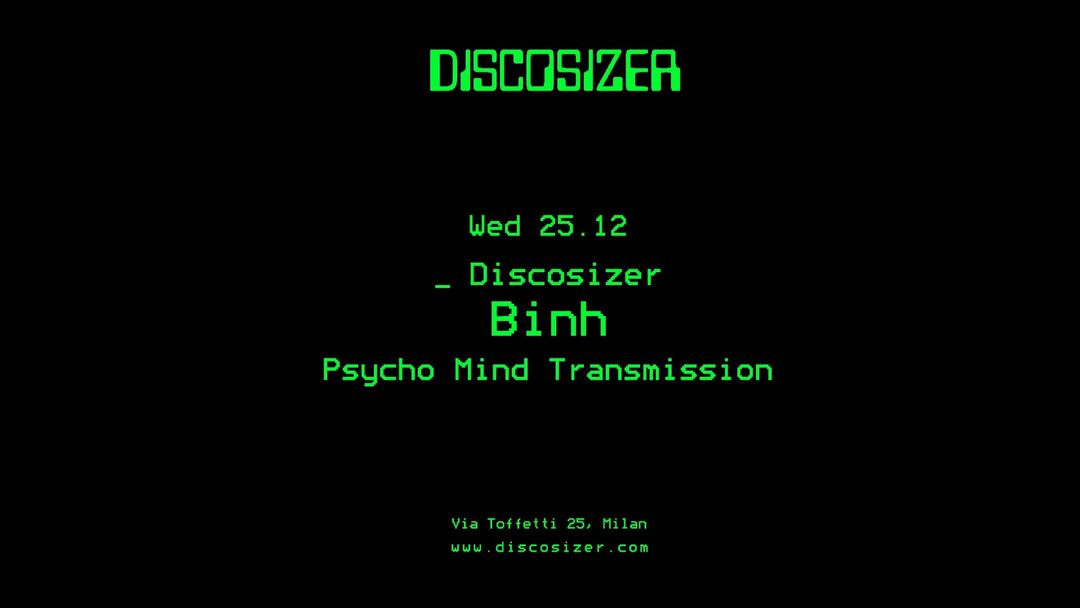Copertina evento Discosizer _ Binh