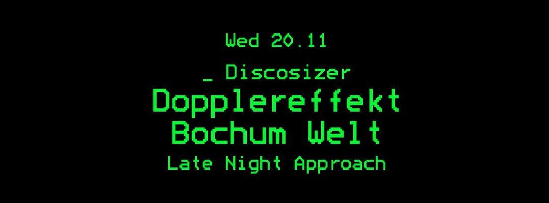 Copertina evento Discosizer: Dopplereffekt _ Bochum Welt