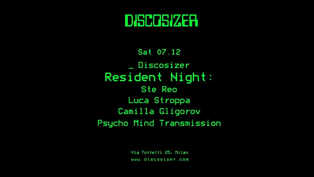 Copertina evento Discosizer _ Resident Night