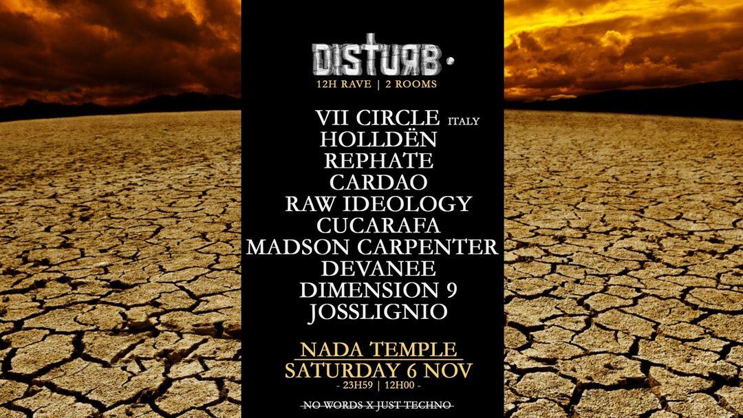 Cartel del evento Disturb • 12h Rave