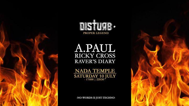 Cover for event: Disturb • Proper Legend w/ A.Paul