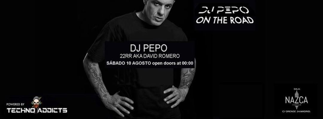 Copertina evento DJ PEPO ON THE ROAD sábado 10 agosto