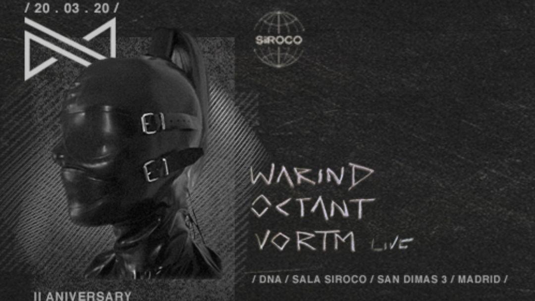 DNA II ANIVERSARY w/ WarinD, Octant, Vortm (Live)-Eventplakat