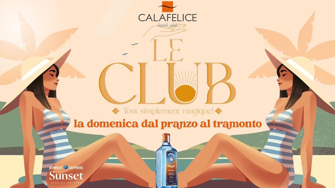 "Domenica ""Le Club"" Bombay Sunset official Tour Cala Felice-Eventplakat"