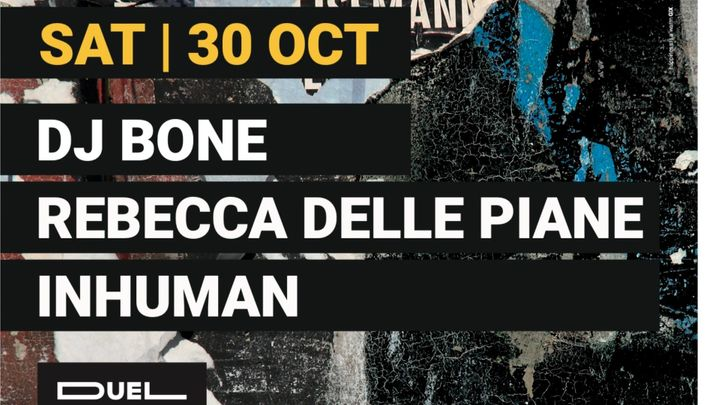 Cover for event: Due Club presents: Dj BONE, Rebecca Delle Piane, Inhuman, Ludo Erre