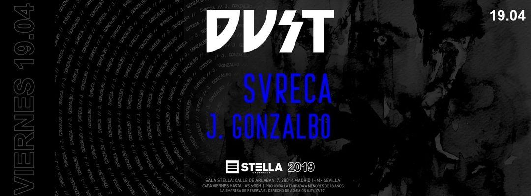 Cartel del evento DVST pres. Svreca (Semantica Records)