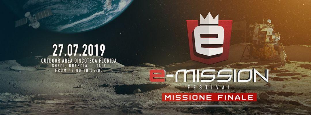 Cartel del evento E-Mission Festival - Missione Finale