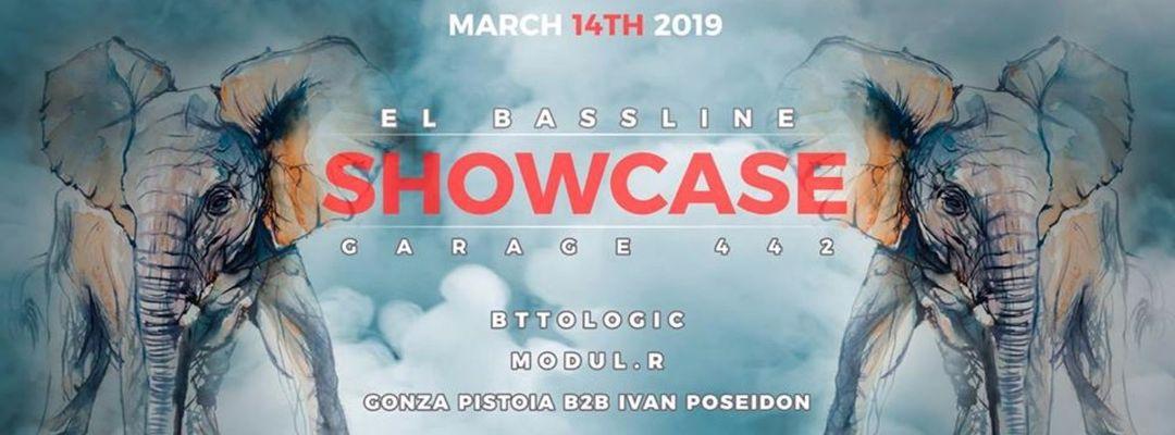 Cartel del evento EL BASSLINE Showcase @ garage442