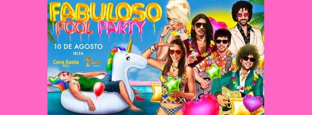 El Fabuloso Pool Party Ibiza-Eventplakat