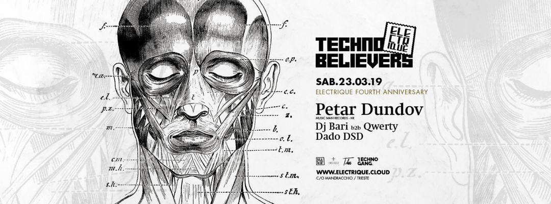 Electrique Techno Believers #6 w/ Petar Dundov + Techno Gang event cover