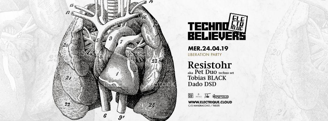 Cartel del evento Electrique Techno Believers #7 w/ Resistohr aka PetDuo