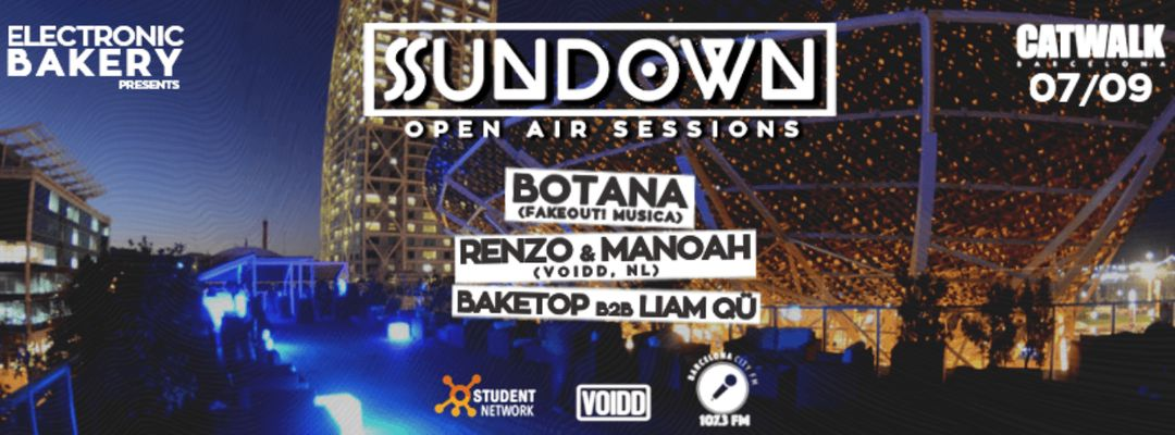 Cartel del evento Electronic Bakery presents Soundown Open Air Sessions
