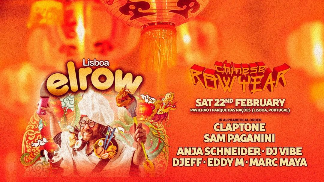 Cartel del evento Elrow Lisboa Chinese Row Year