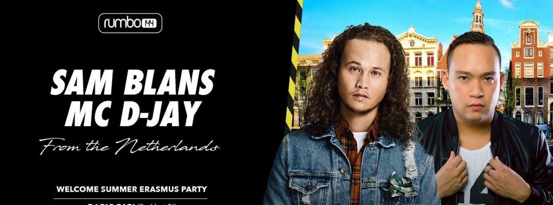 Cartel del evento Erasmus Party - Every Wednesday - Sam Blans & MC D-Jay