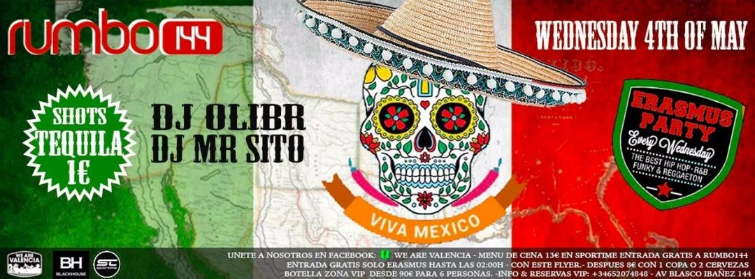 Cartel del evento Erasmus Party: Viva Mexico