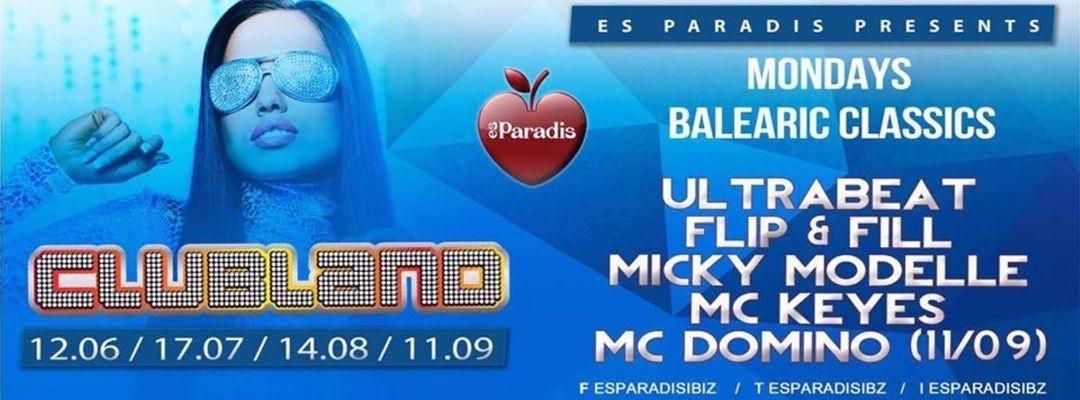 Cartel del evento Es Paradis presents...Clubland